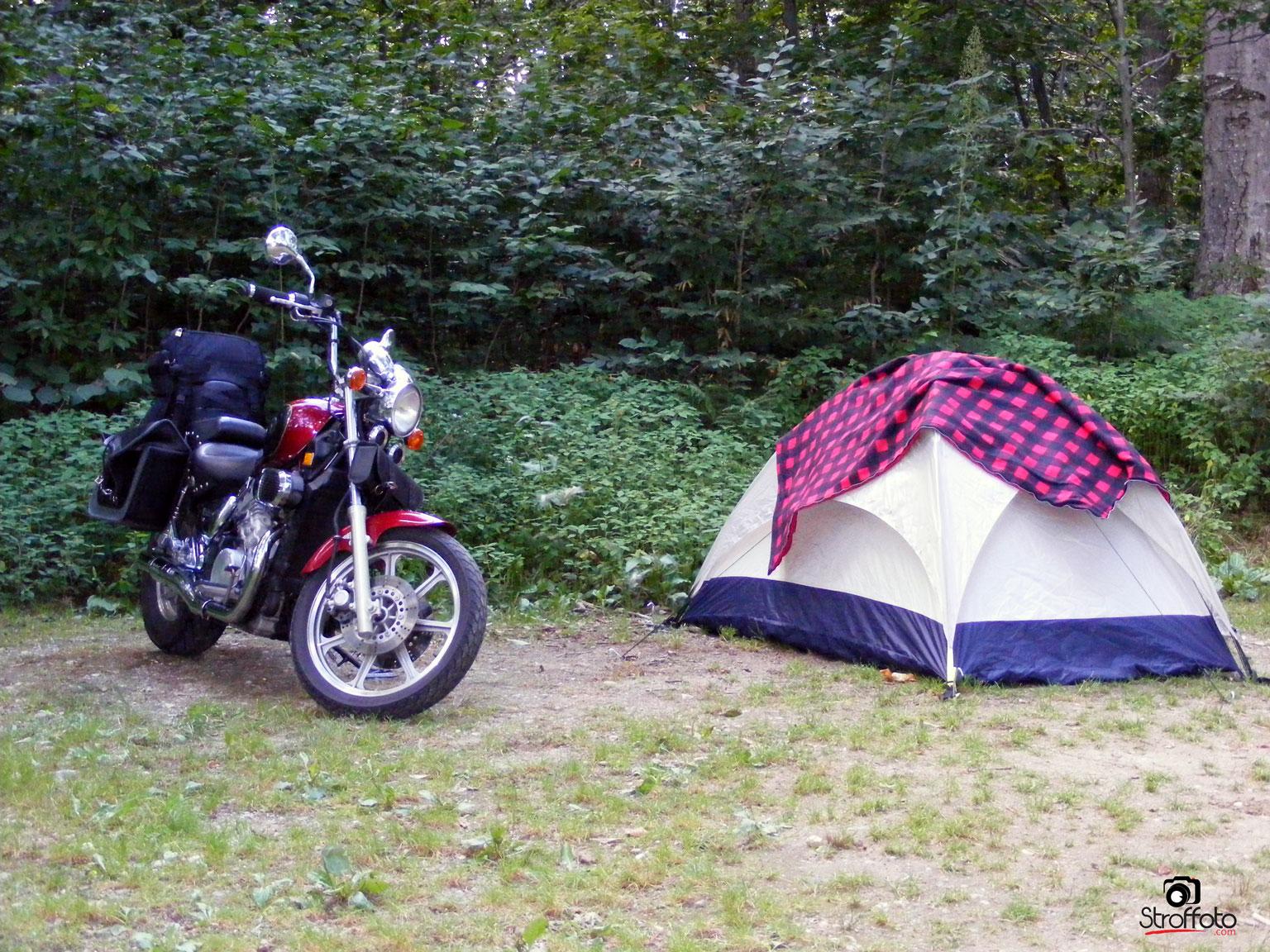 Savoy Mountain Motorcycle Camping
